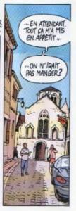 Eglise de Mouthiers Façade vue depuis la rue de l'église