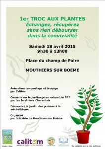 Affiche Troc aux Plantes 2015 - Mouthiers