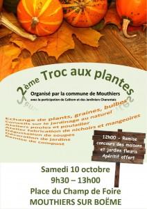 Affiche troc plantes octobre