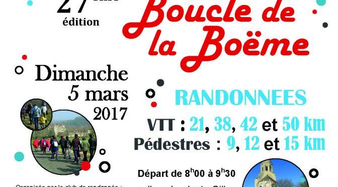 Samedi 4 et Dimanche 5 mars- Boucle de la Boëme