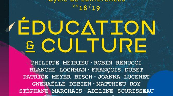Cycle de conférences Education et culture